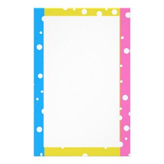 Polka Dot Fun - Pink, Blue & Yellow Stationery