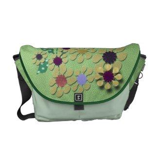 Polka Dot Garden Courier Bag