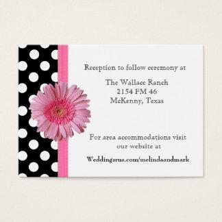 Polka Dot & Gerber Daisy Wedding Enclosure Card