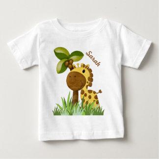 Polka Dot Giraffe Baby T-Shirt