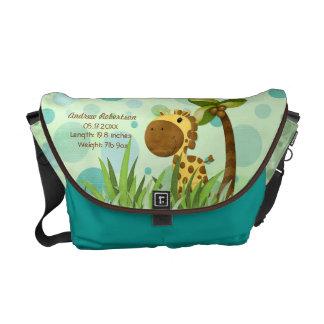 Polka Dot Giraffe Messenger Bag