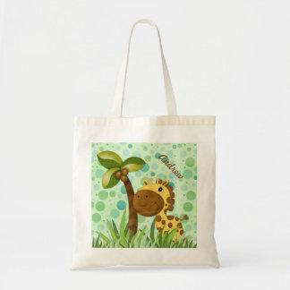 Polka Dot Giraffe Tote Bag