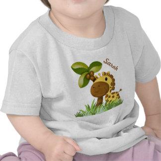 Polka Dot Giraffe Tee Shirts