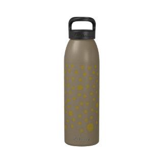 Polka Dot Gold Reusable Water Bottle