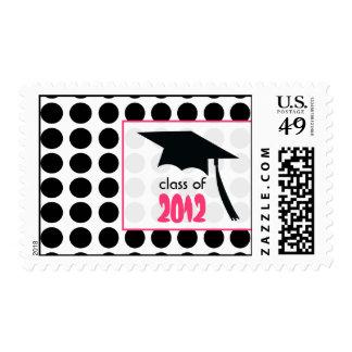 Polka Dot & Graduation Cap Class of 2012 Stamp