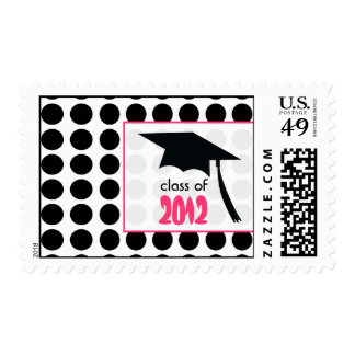 Polka Dot & Graduation Cap Class of 2012 Stamps