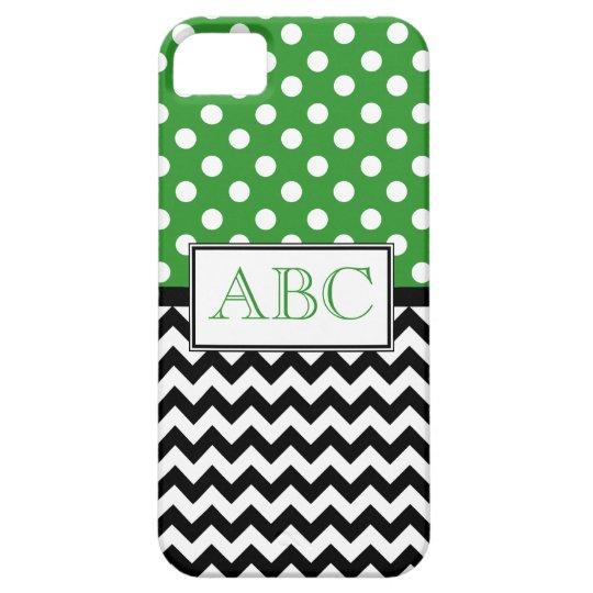 Polka Dot Green & Chevron iPhone 5 Case