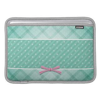Polka Dot {green} Pattern Sleeve For MacBook Air