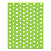Polka Dot Green White Baby Scrapbook Paper