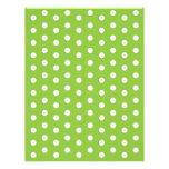 Polka Dot Green White Baby Scrapbook Paper Letterhead Template