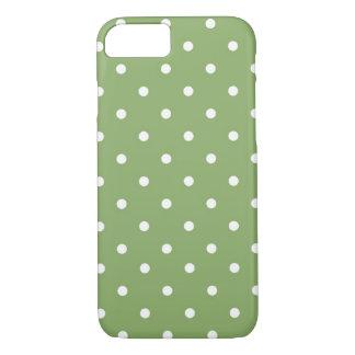 Polka Dot Green & White iPhone 8/7 Case