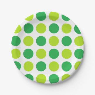 Polka Dot Greens Paper Plate