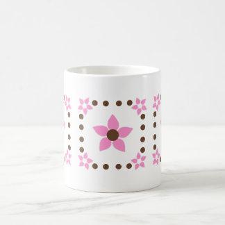 Polka Dot Hawaii Flower Mug