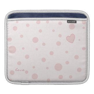 Polka Dot Heart iPad sleeve