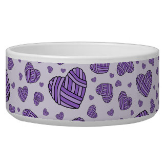 Polka Dot Heart Shaped Balls of Yarn (Purple #2) Bowl