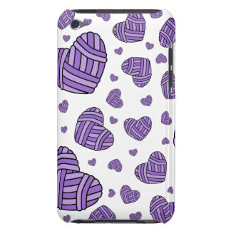 Polka Dot Heart Shaped Balls of Yarn (Purple) Barely There iPod Case