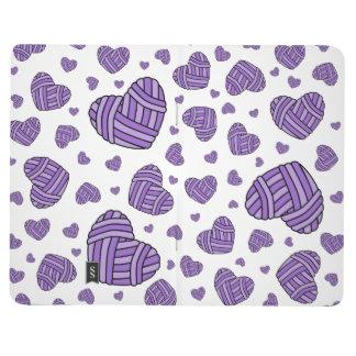 Polka Dot Heart Shaped Balls of Yarn (Purple) Journals