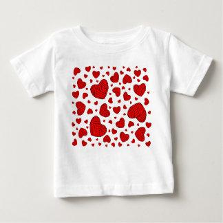 Polka Dot Heart Shaped Balls of Yarn (Red) Baby T-Shirt