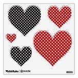 Polka-dot Heart: Wall Decals