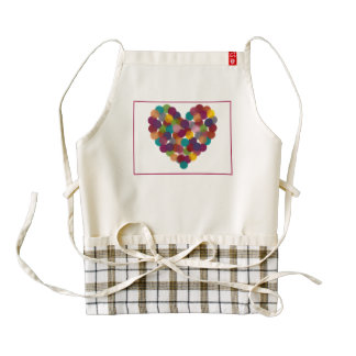Polka Dot Heart Zazzle HEART Apron