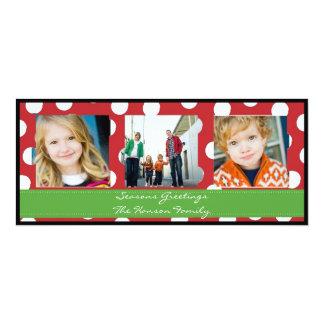 Polka dot Holiday Greetings Card