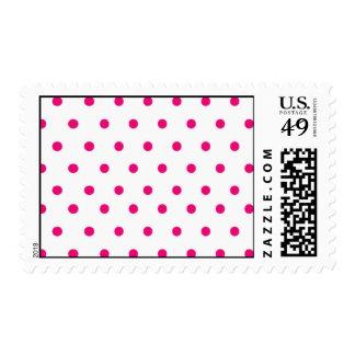 Polka Dot - Hot Pink Theme Postage