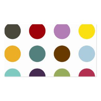 Polka dot icecream Monogram Business Card