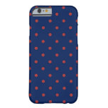 Polka Dot Indigo & Red iPhone 6 Case