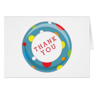 Polka Dot Inner Tube Summer Kids Thank You Card