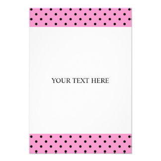 Polka dot invitations with custom background color