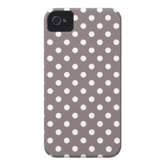 Polka Dot Iphone 4S Case in Driftwood Brown iPhone 4 Covers