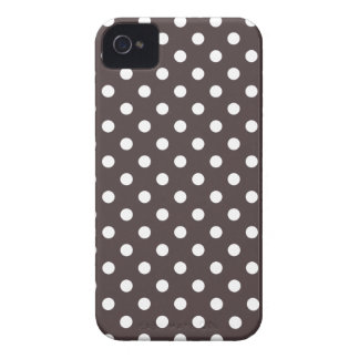 Polka Dot Iphone 4S Case in French Roast Brown iPhone 4 Case-Mate Cases