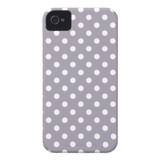 Polka Dot Iphone 4S Case in Sea Fog Purple iPhone 4 Case