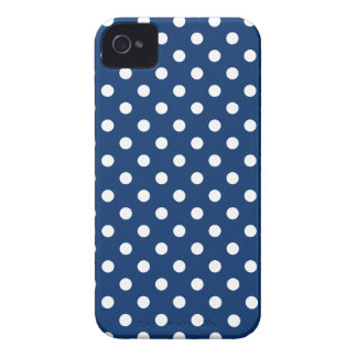 Polka Dot Iphone 4S Case in Sodalite Blue iPhone 4 Case-Mate Cases