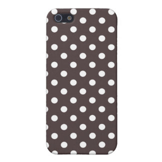 Polka Dot iPhone 5 Case in French Roast Brown