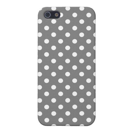 Polka Dot iPhone 5 Case in Titanium Gray