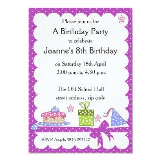 Polka Dot Kid Birthday Invitation