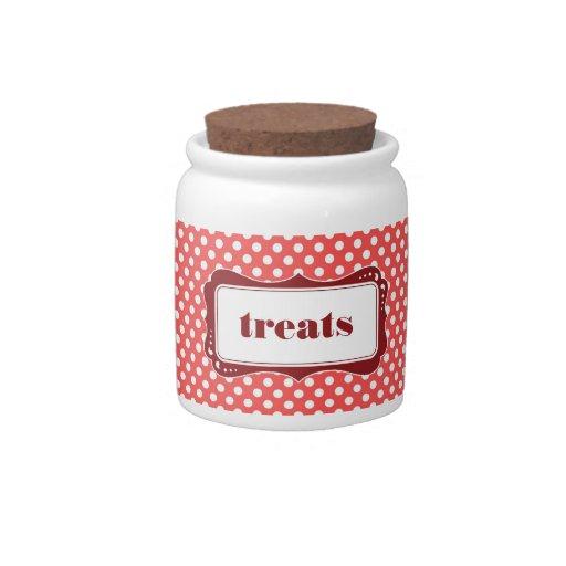 Polka Dot Kitchen Jar Candy Dish