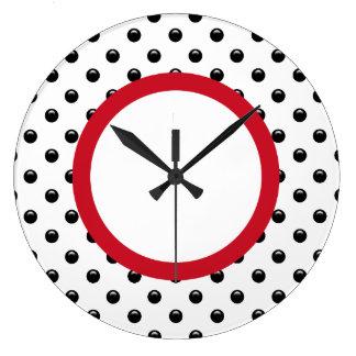 Polka Dot Kitchen Wall Decor Clocks