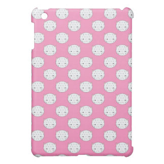 Polka Dot Kitty Pink and White Cat Face Pattern Case For The iPad Mini