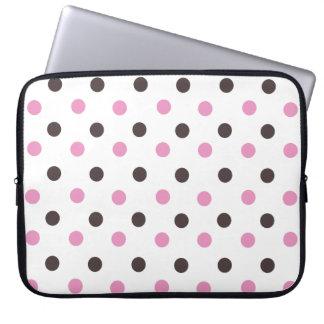 Polka Dot Laptop Bag Computer Sleeve