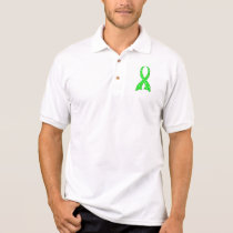 Polka Dot Lime Green Ribbon Non-Hodgkin's Lymphoma Polo Shirt