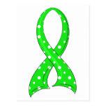Polka Dot Lime Green Ribbon Non-Hodgkin's Lymphoma Postcard