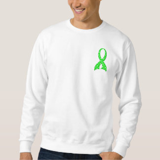 Polka Dot Lime Green Ribbon Non-Hodgkin's Lymphoma Sweatshirt
