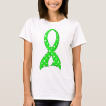Polka Dot Lime Green Ribbon Non-Hodgkin's Lymphoma T-Shirt
