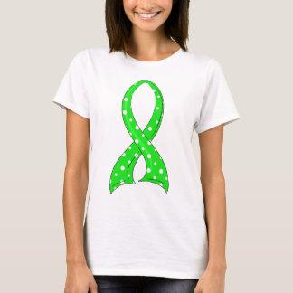 Polka Dot Lime Green Ribbon Non-Hodgkin's Lymphoma T-Shirt
