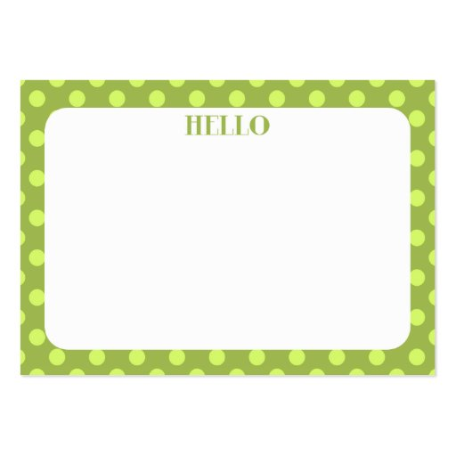 Polka Dot Mini Flat Card // Gift Tag Large Business Cards (Pack Of 100)