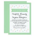 Polka Dot Mint Green & White Wedding Invitation