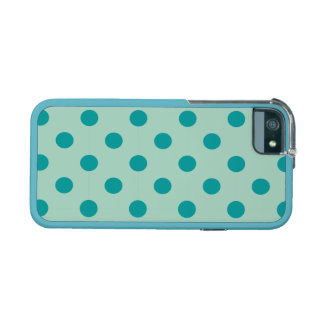 polka dot mint powder teal cute chic girly fun cover for iPhone 5