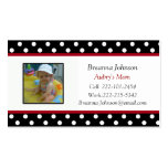 Polka Dot: Mom Contact Card Double-Sided Standard Business Cards (Pack Of 100)